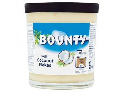 Bounty Milk Chocolate Spread with Coconut Flakes 200g ser Brotaufstrich 0