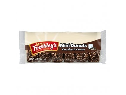 mrs freshleys cookies and creme mini donuts 3 4oz 800x800