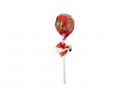 Pin Pop lízátko se žvýkačkou (jahoda) 18g