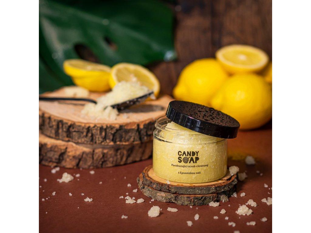 Povzbuzující scrub citronový