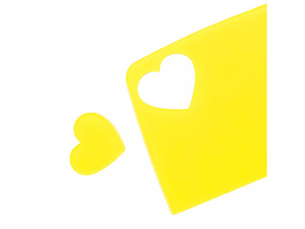 Mýdlové pláty na vykrajování - žlutý