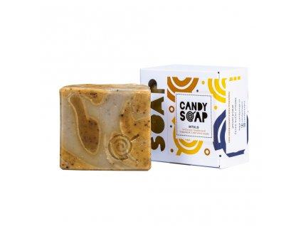 Vyživující skořicové mýdlo s bahnem z Mrtvého moře