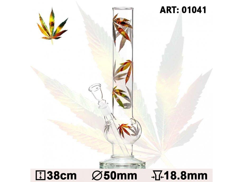 Skleněný bong Multi Leaf Bouncer Glass Bong