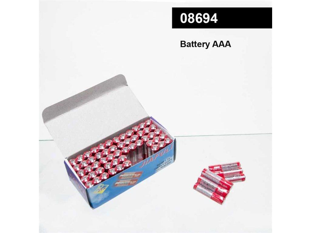 Baterky AAA balení po 3 bateriích uvnitř
