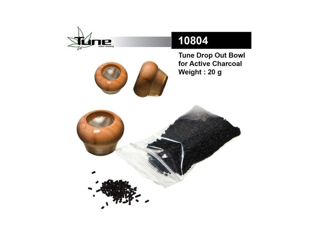 Tune Drop Out Bowl BIG for Active Charcoal with 20g Active Charcoal