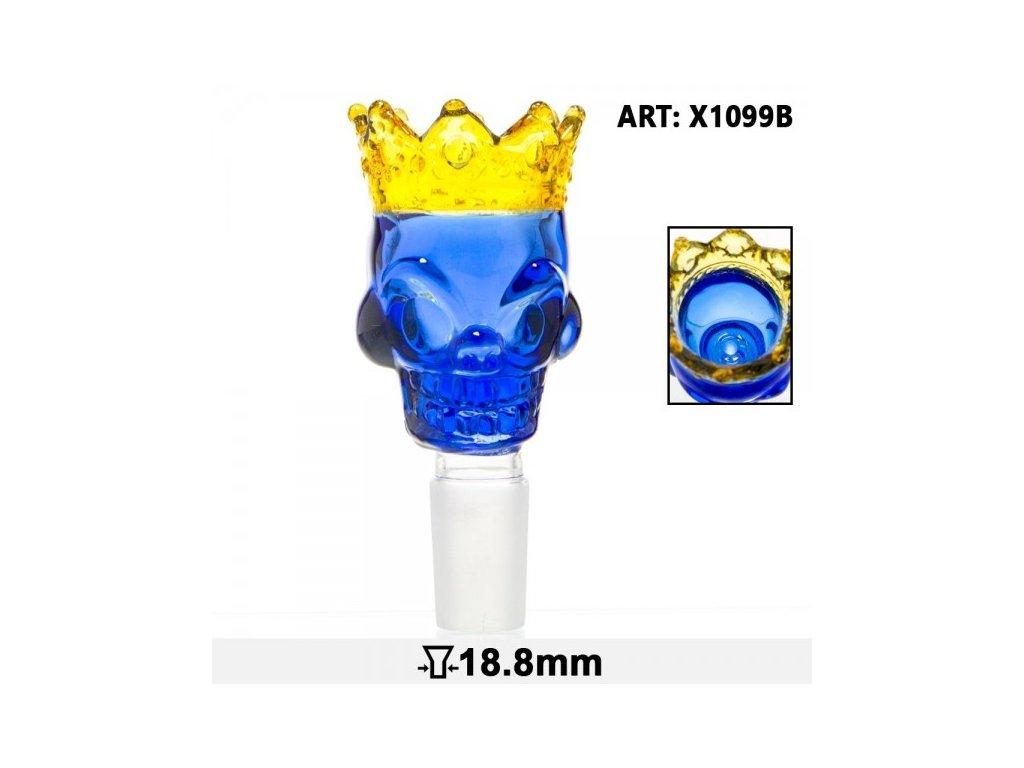 Skull King Bowl- Blue- SG:18.8mm