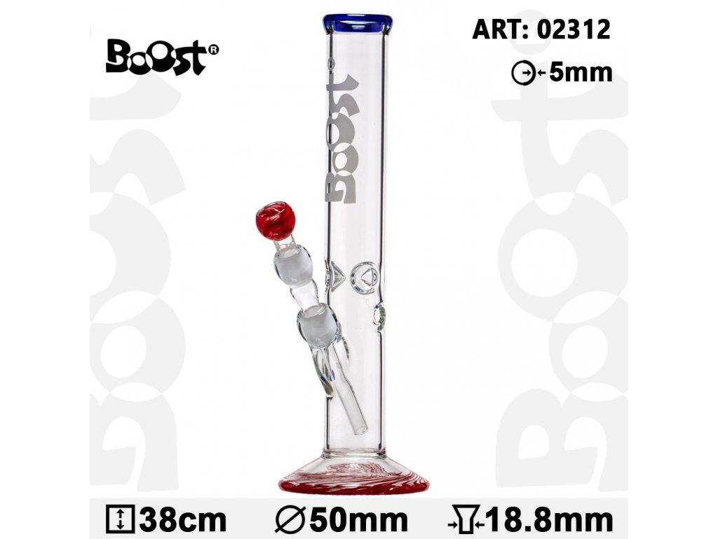 Boost   Cane Glass Bong - H:38cm -Ø:50mm -Socket:18.8mm- WT:5mm (circa)