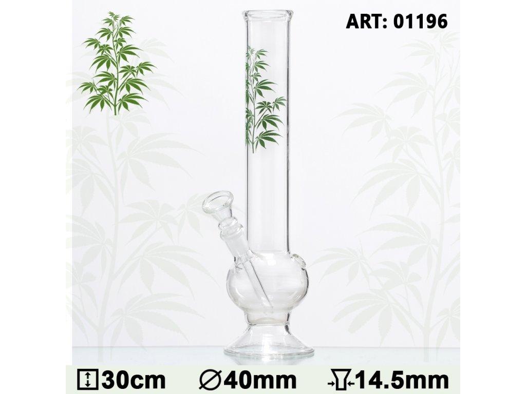 Multi Leaf Glass Bong- H:30cm - Ø:40mm - Socket 14.5mm