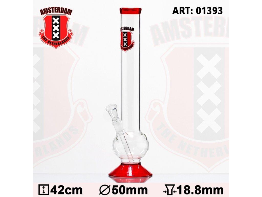 Amsterdam Bouncer Glass Bong - H:42cm - Ø:50mm- SG:18.8mm