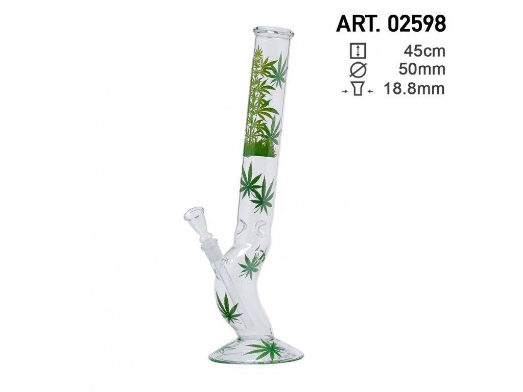 Leaf Jhari Hangover Glass Bong- Ø:50mm- H:45cm- Socket:18.8mm