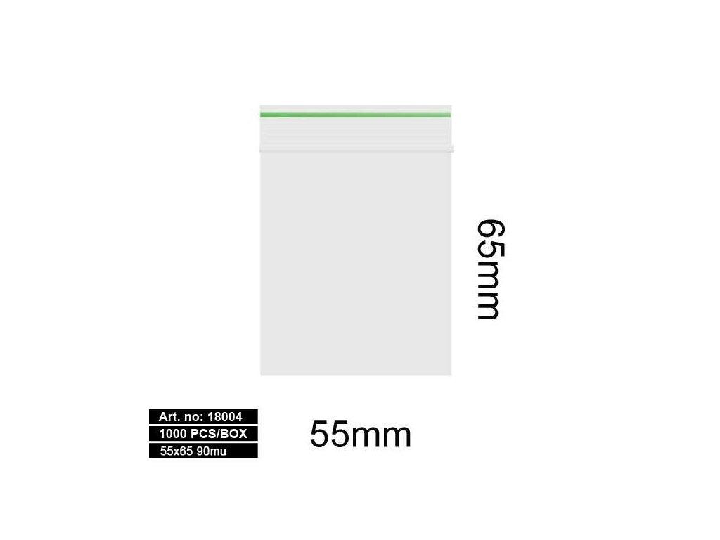 Sáčky - 55X65MM 90MU GREEN