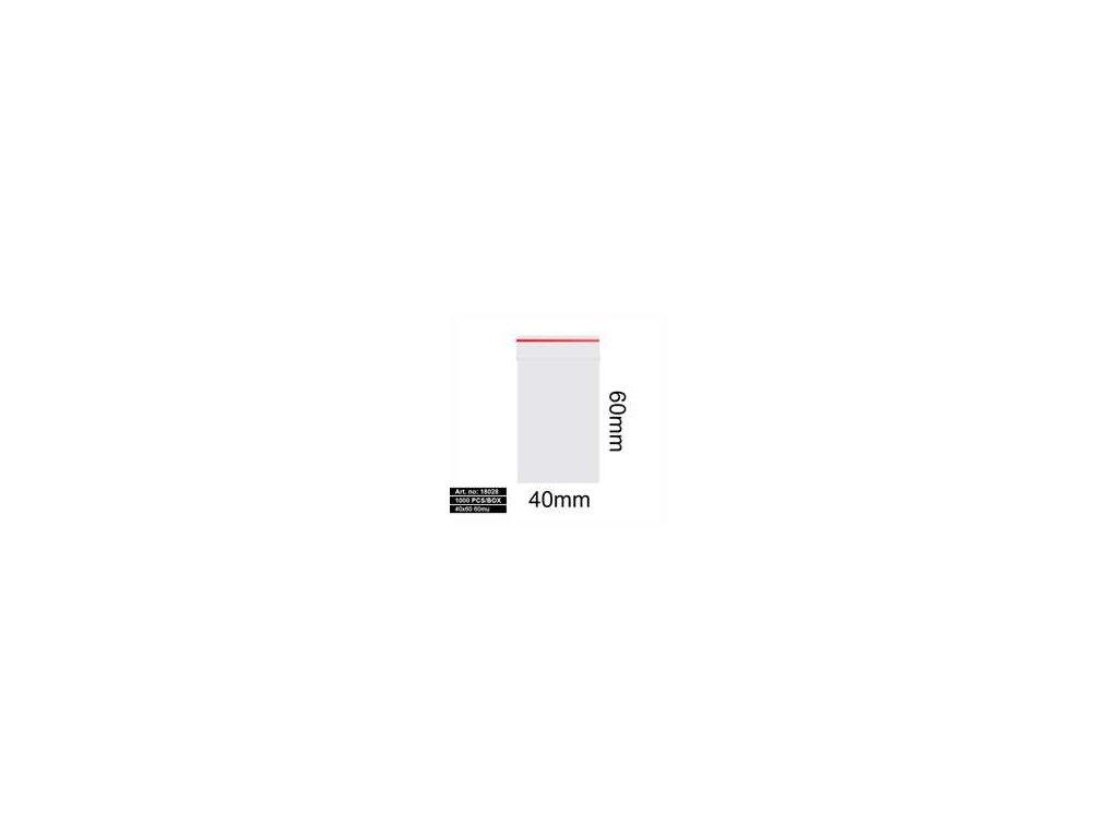 Sáčky - 40X60MM 60MU RED