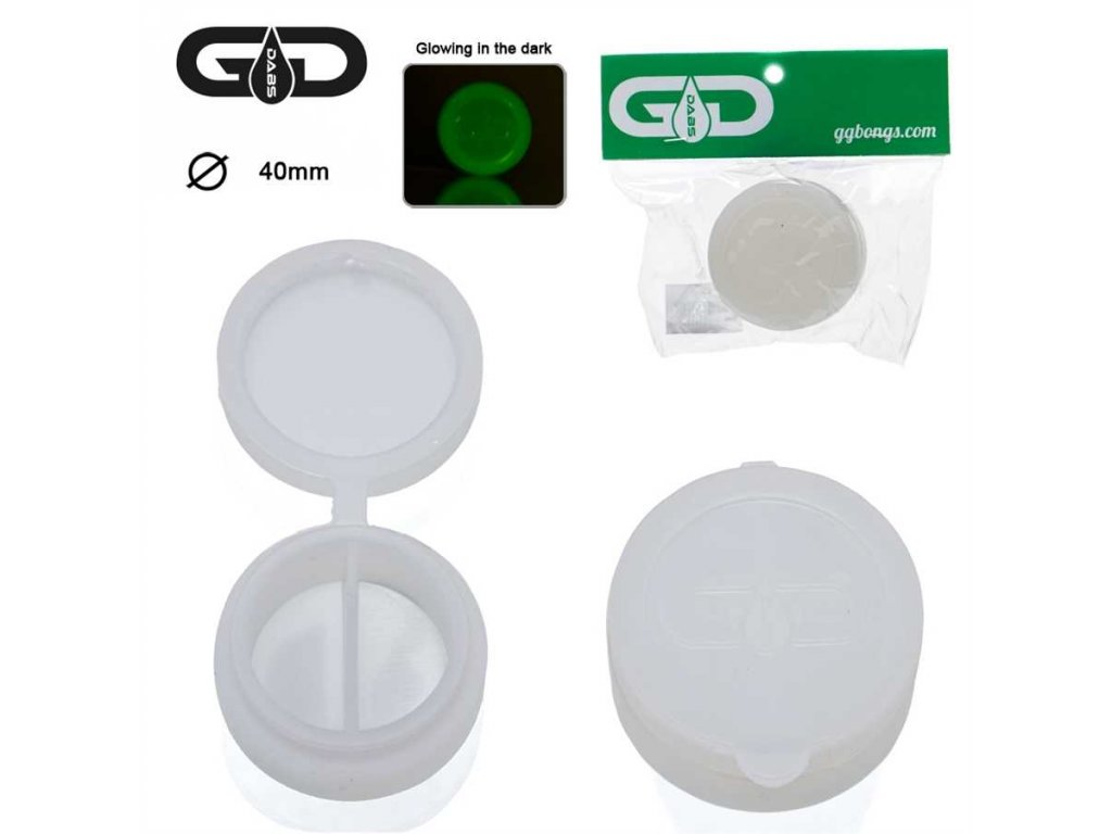 GRACE GLASS DABS SILICONE JAR