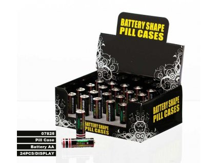 PILL CASE BATTERY SHAPE SMALL