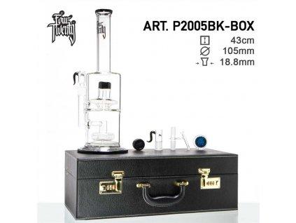 FourTwenty Scientific Bong- Black- H:43cm -Ø:105/45mm- SG:18.8mm - luxury leather box