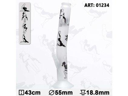 Skleněný bong Kamasutra Bending Glass Bong 43 cm