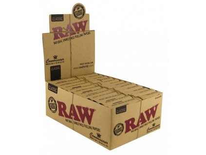 RAW CONNOISSEUR - KS SLIM PREROLLED TIPS BOX