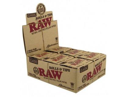 RAW MASTERPIECE - 12 RAW ROLLS + 30 PRE-ROLLED TIPS