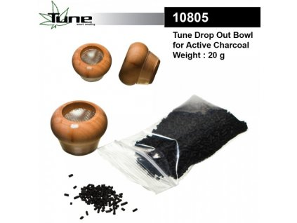Tune Drop Out Bowl Small Bowl for Active Charcoal with 20g Active Charcoal