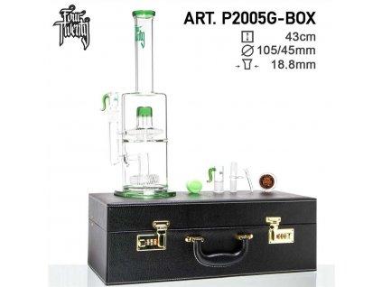 Scientific Bong- Green- H:43cm - Ø:105/45mm- SG:18.8mm - luxury leather box