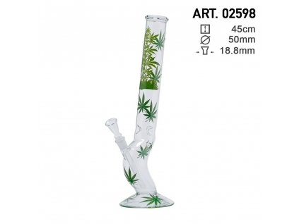 Leaf Jhari Hangover Glass Bong- Ø:50mm- H:45cm- Socket:18.8mm