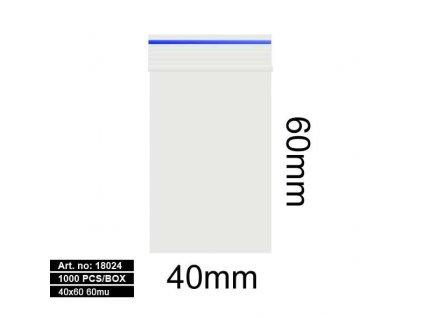 Sáčky - 40X60MM 60MU BLUE