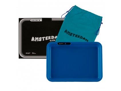 Amsterdam Multi Colors LED Tray Blue - L:26cm - W:21cm with Amsterdam bag