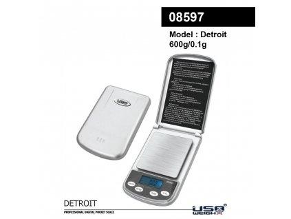 Detroit digital scale 600g - 0.1g