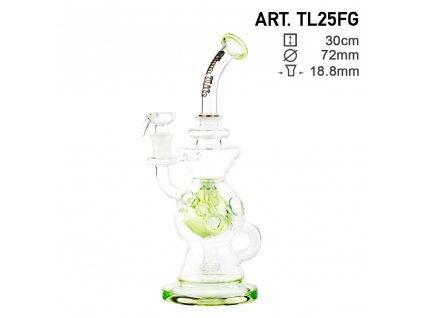 Recycler Series Green - H:30cm - SG:18.8mm - Ø:72mm