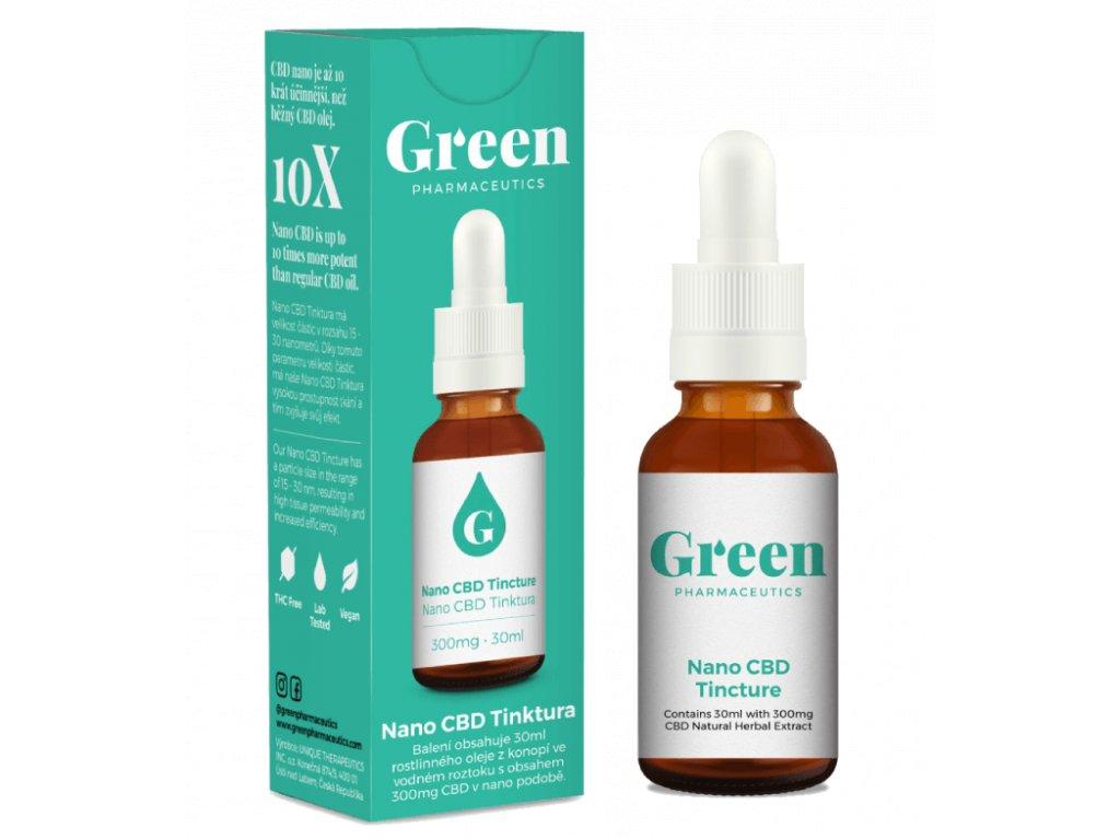 Nano CBD olej s obsahem 300 mg kanabidiolu od Green Pharmaceutics
