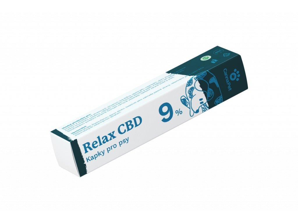 Kapky Relax 9% CBD pro psy