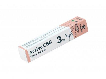 Kapky Active 3% CBG pro psy