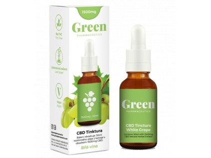 CBD olej Green Pharmaceutics ve formě 30 ml tinktury s 1500 mg CBD a příchutí bílého vína