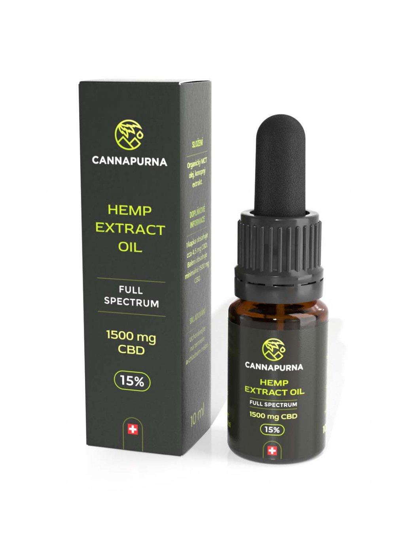 CBD konopný olej 15% full spectrum (10 ml)