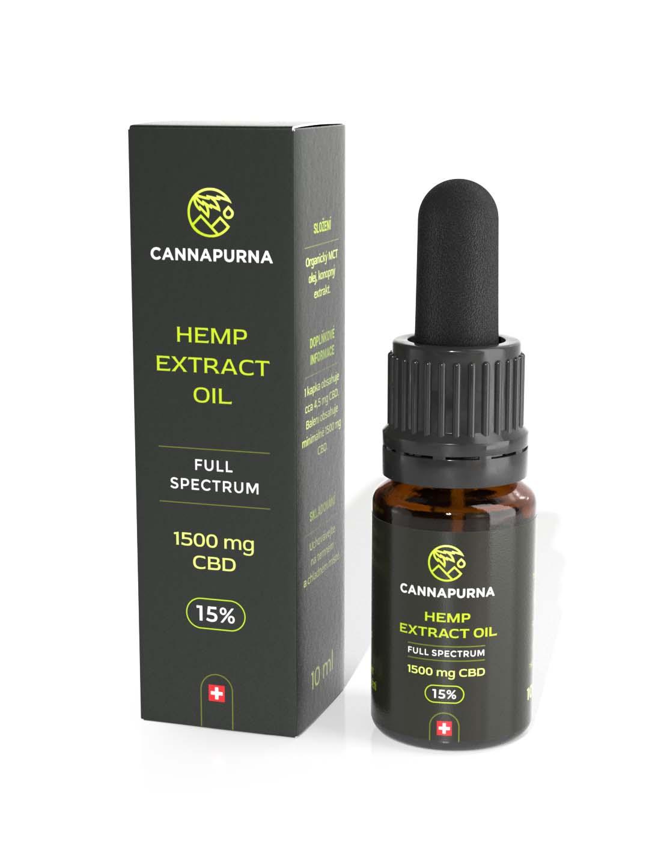 CBD olej 15%, full spectrum, 10 ml