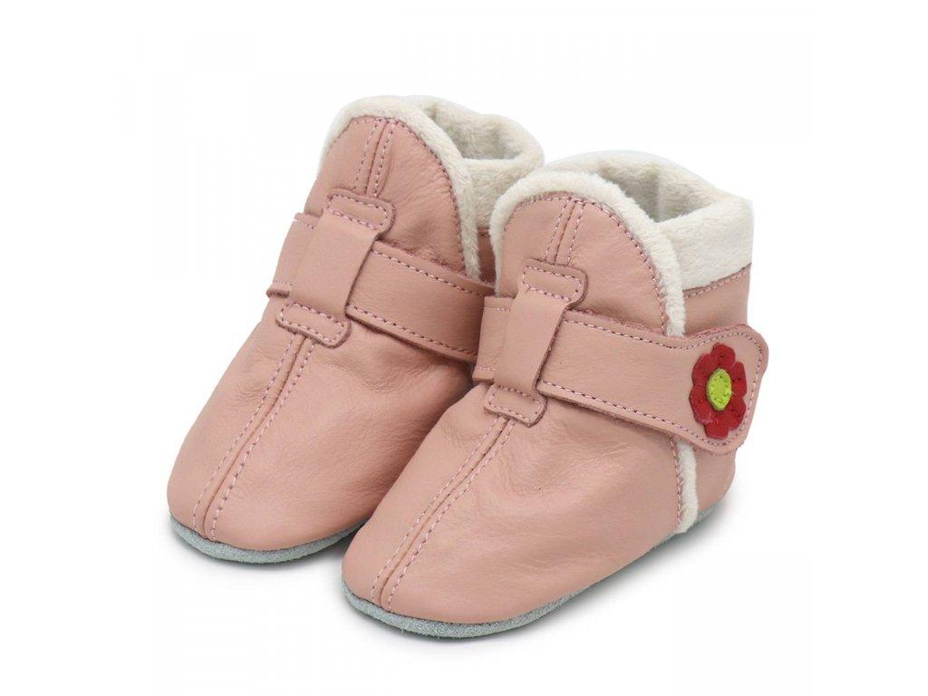 Capáčky zimní růžové CAROZOO 01