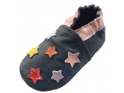 Capáčky kožené barevné hvězdy CAROZOO 01
