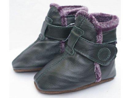 Capáčky zimní černo fialové CAROZOO