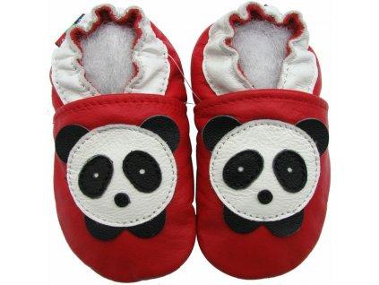 Capáčky kožené červené panda CAROZOO 01.
