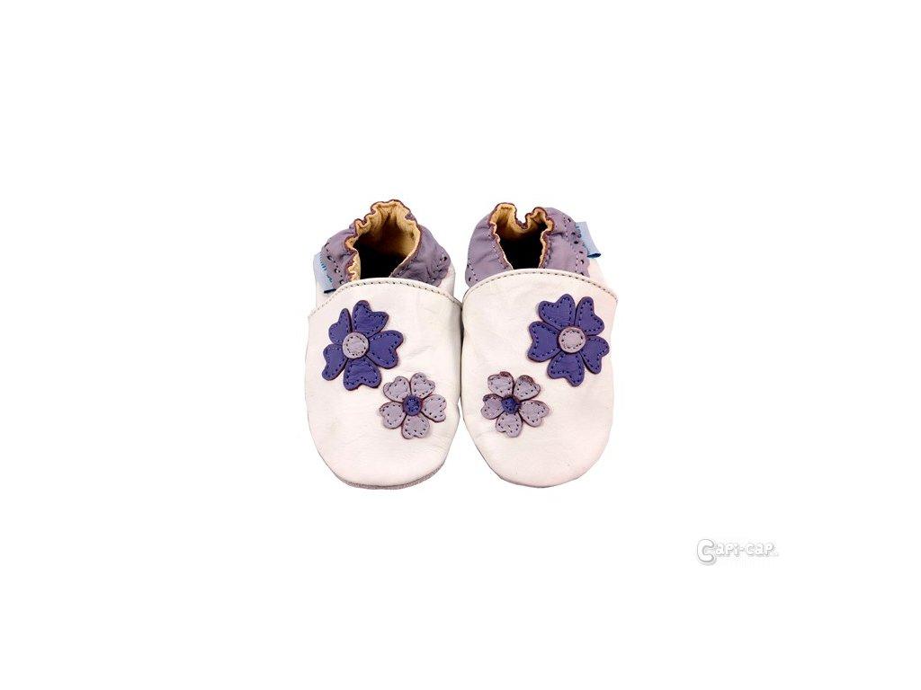 MiniFeet capáčky kytičky Violet bílé
