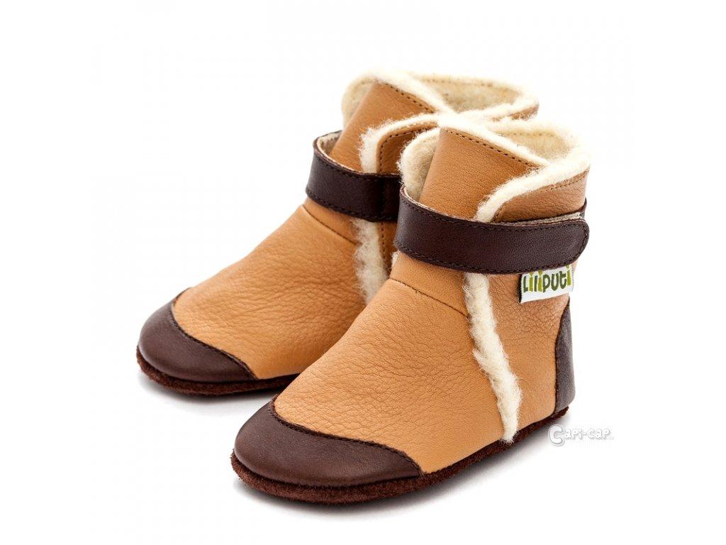 Liliputi zimní capáčky Eskimo hnědé