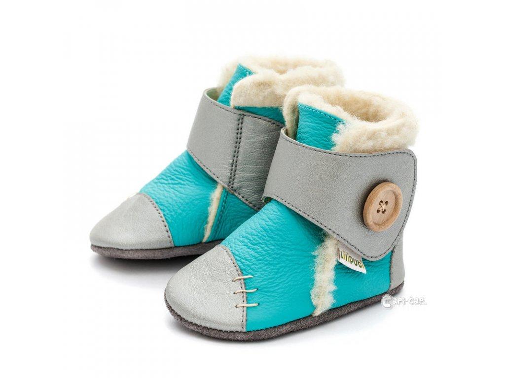Liliputi zimní capáčky Snowflake modrostříbrné