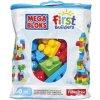 MEGA BLOKS Kostky v plastovém pytli modrá 60 kostek