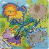 Dřevěná provlékací hračka Baby Mix Safari