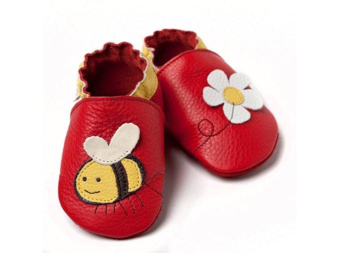 Liliputi kožené capáčky včelka červené