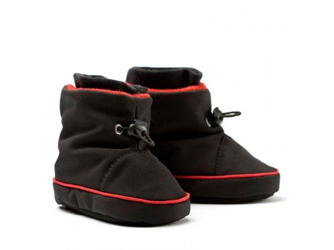 Liliputi zimní capáčky softshell Elegance černé