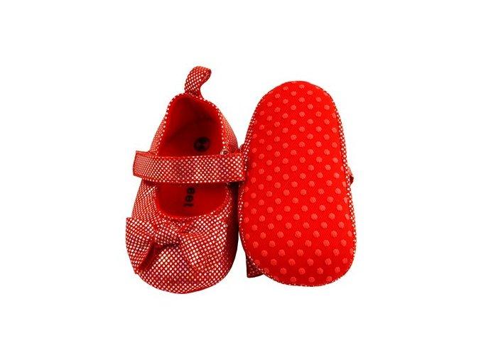 MiniFeet dětské balerínky červené