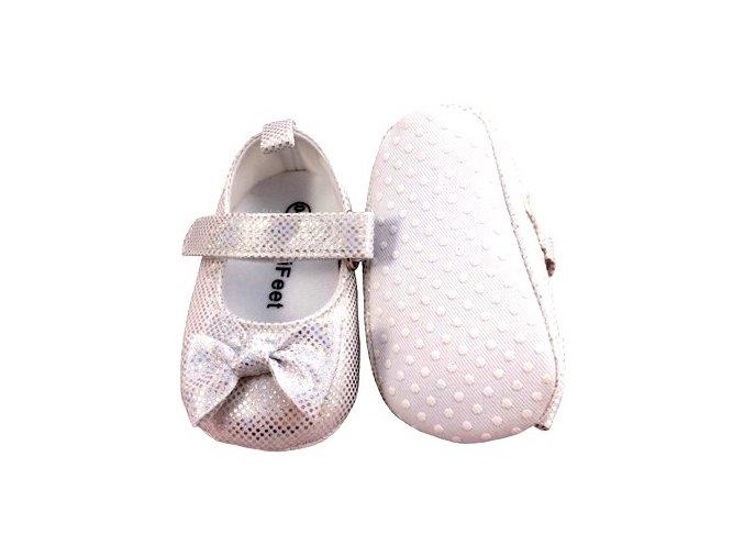 MiniFeet dětské balerínky bílé