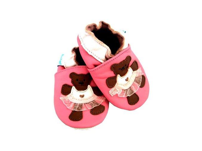 MiniFeet capáčky medvídek Tutu růžové
