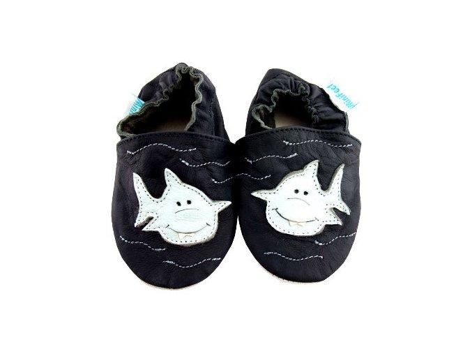 MiniFeet capáčky žralok Toothy černé